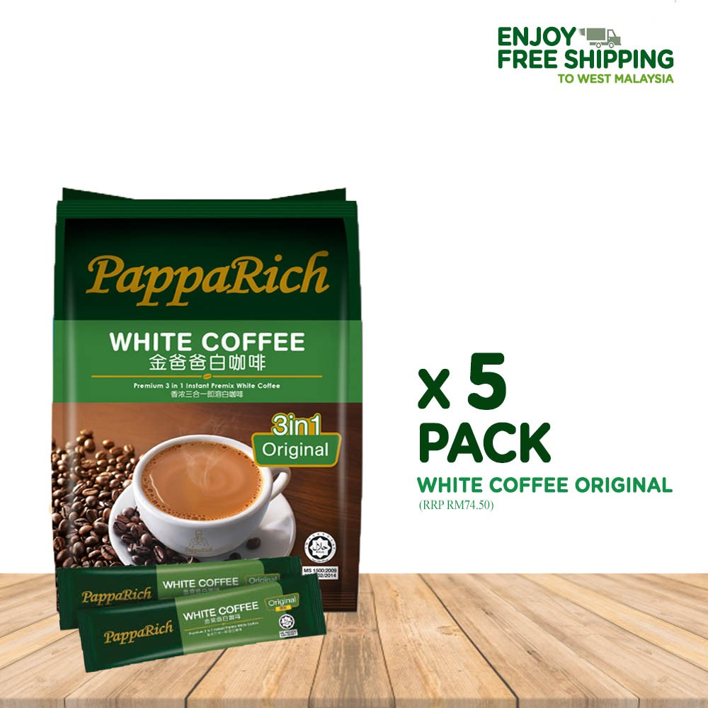 [5 Pack Bundle] Papparich White Coffee 3in1 (40g x 12s)