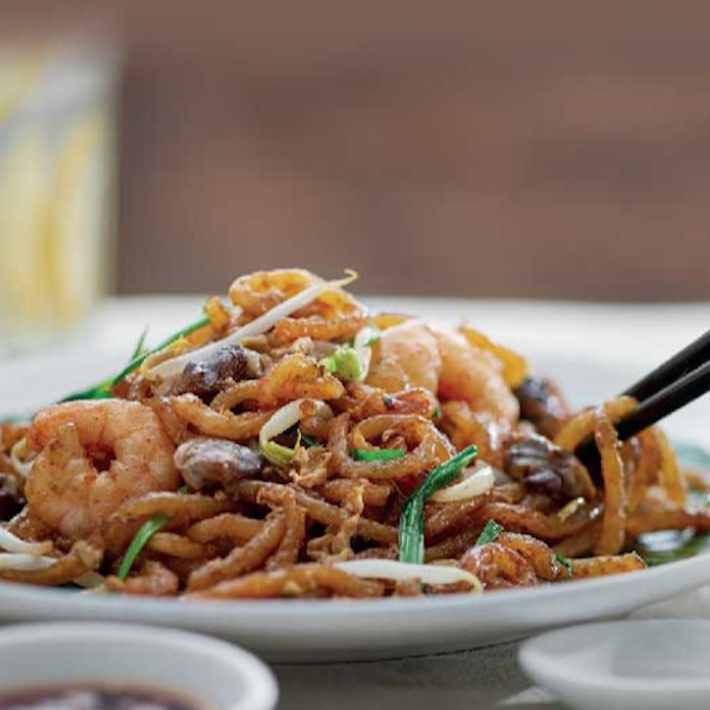 Fried Rice Noodles Special (with Sotong + Extra Prawns)