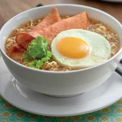 Springy Noodles with Sunny Side Up
