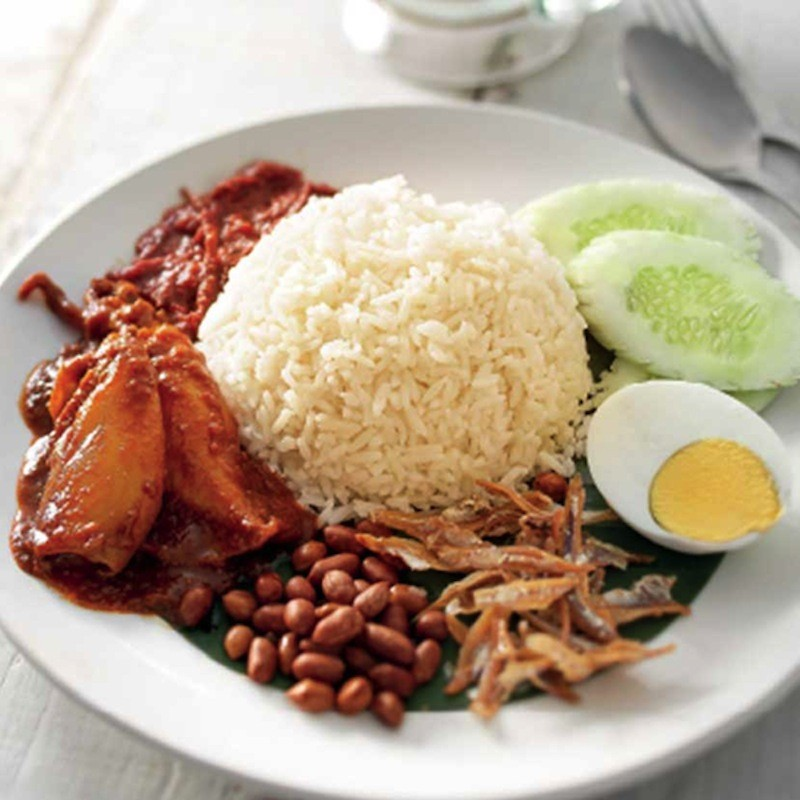 Nasi Lemak with Sweet & Spicy Sotong (2 Pieces)