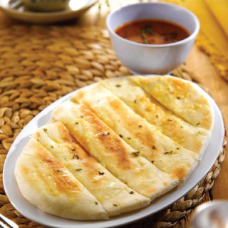 Naan with Curry Sauce