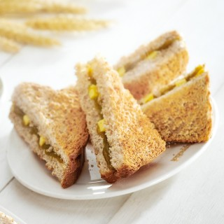 Wholemeal Hainan Toast with Butter + Kaya