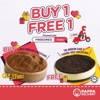 [BUY 1 FREE 1] Buy 1 Milo Cheesecake and FREE 1 Oreo Cheesecake