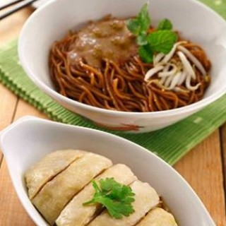Dry Curry Mee with Steamed Chicken