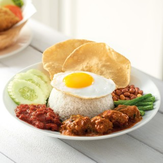 Ovo Vegetarian Nasi Lemak with Curry Mutton
