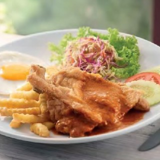 Chicken Chop with Curry Sauce